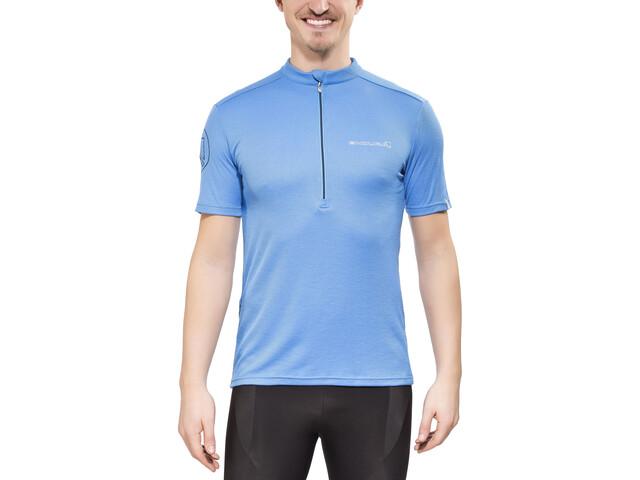 Endura Singletrack Merino Jersey Shortsleeve Men, ocean blue